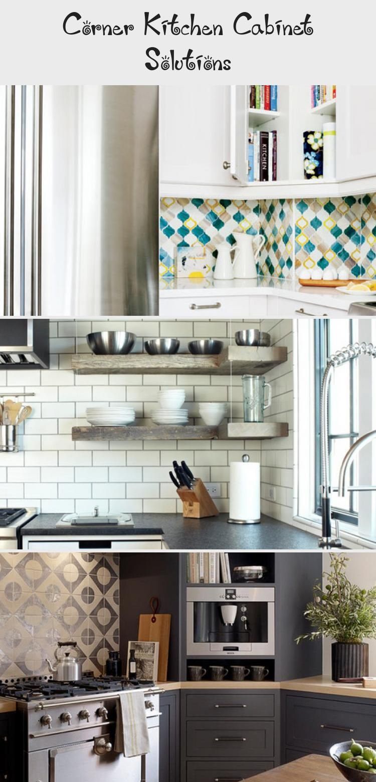 Corner Kitchen Cabinet Solutions | Country kitchen shelves ... on Corner Sconce Shelf Cabinet id=64071