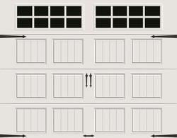 Ideal Door Designer Steel Panel White 9 X 7 Best Construction R Value 12 9 Garage Door With Sq24 Windows Dream House In 2019 Garage Door Panels Garag