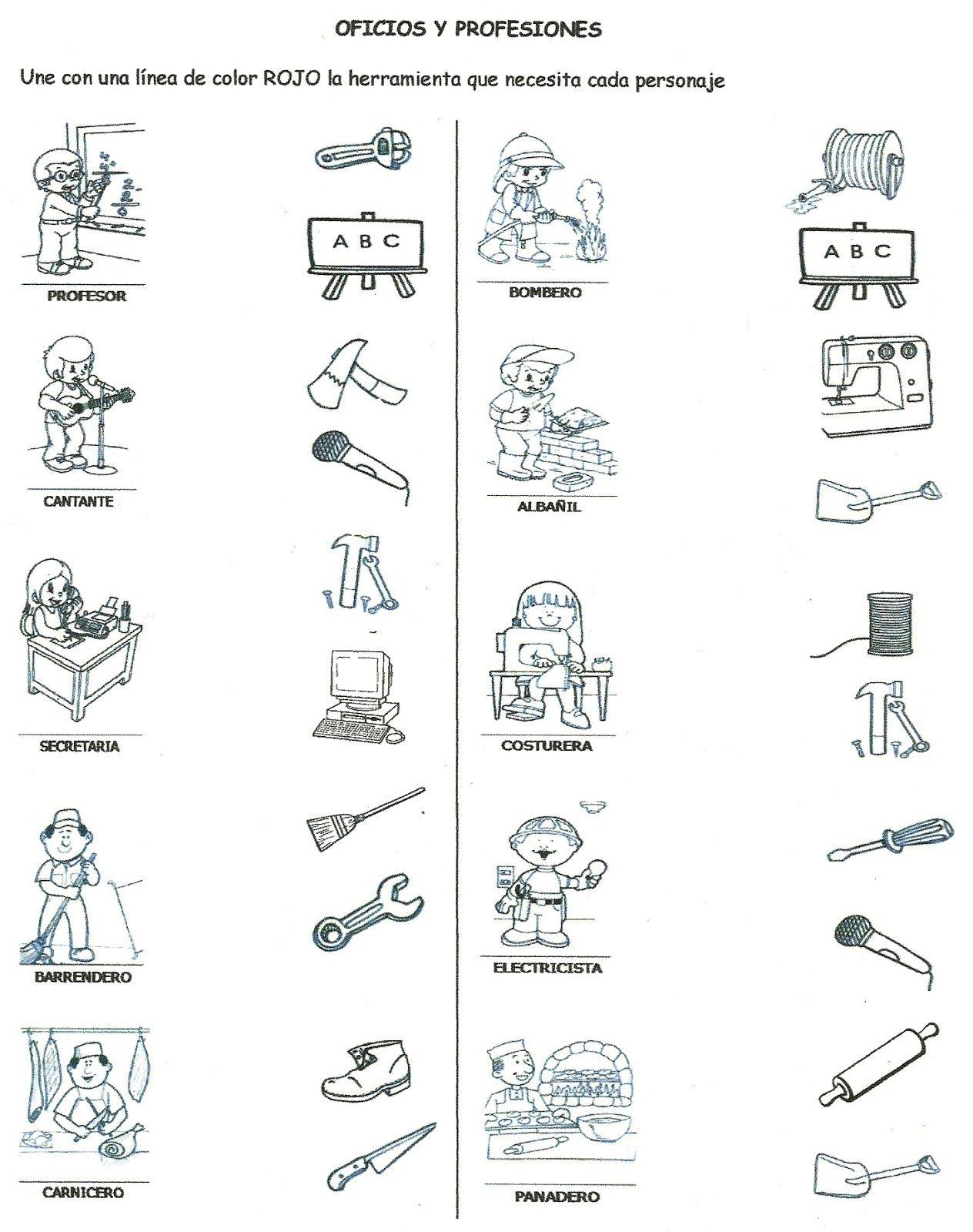Resultado De Imagen Para Los Oficios Y Sus Herramientas Para