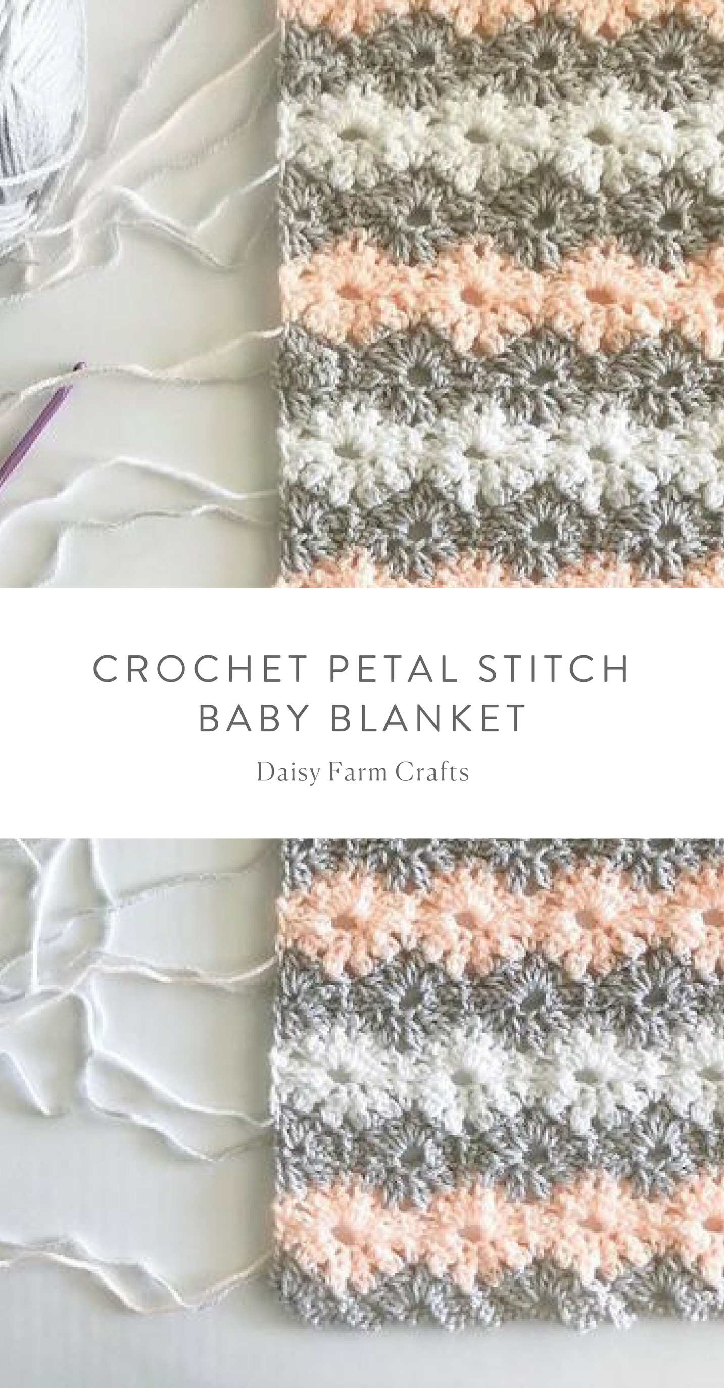 Free Pattern - Crochet Petal Stitch Baby Blanket #crochet | Art in ...