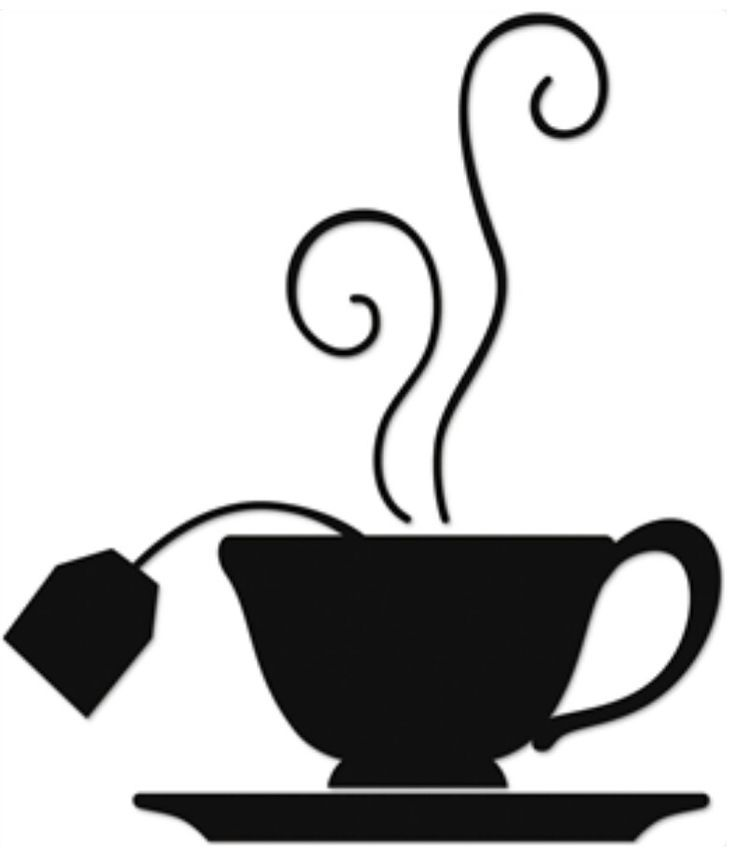tea time silhouette image tea coffee cup art pinterest rh pinterest ca tea cup clip art free download teacup clipart black and white
