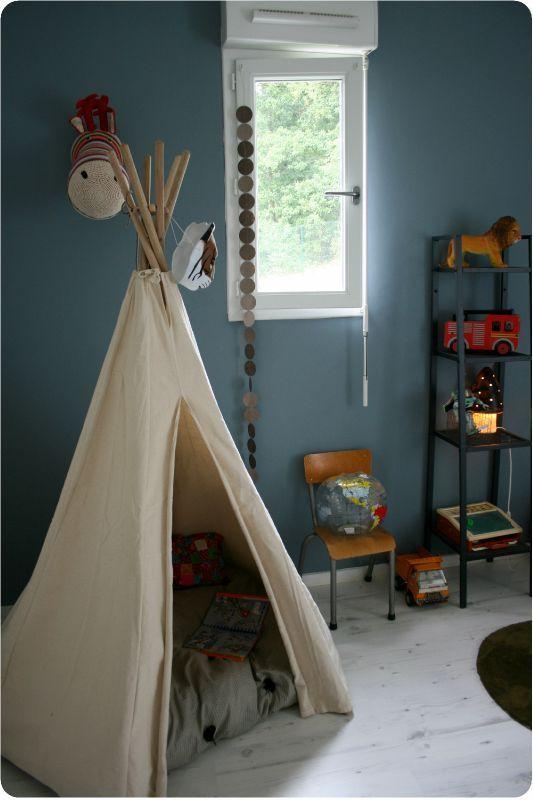 la chambre d 39 arthur d co maison pinterest teepee. Black Bedroom Furniture Sets. Home Design Ideas