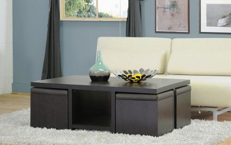 Coffee Table with Stools and Storage Coffee Table with Stools