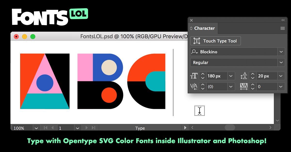 Typing with full-color illustrated letters is now a reality