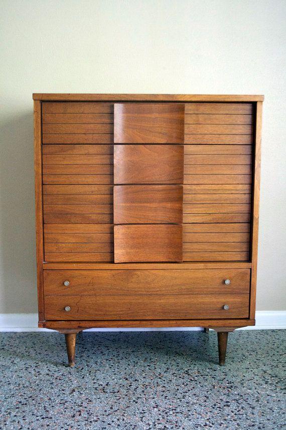 Johnson Carper Fashion Trend Highboy Chest Mid Century Modern Vintage 1950 S Eames Era Dresser