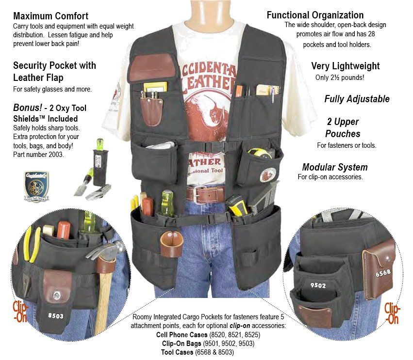 Bobstools Occidental Leather Oxy Pro Work Vest