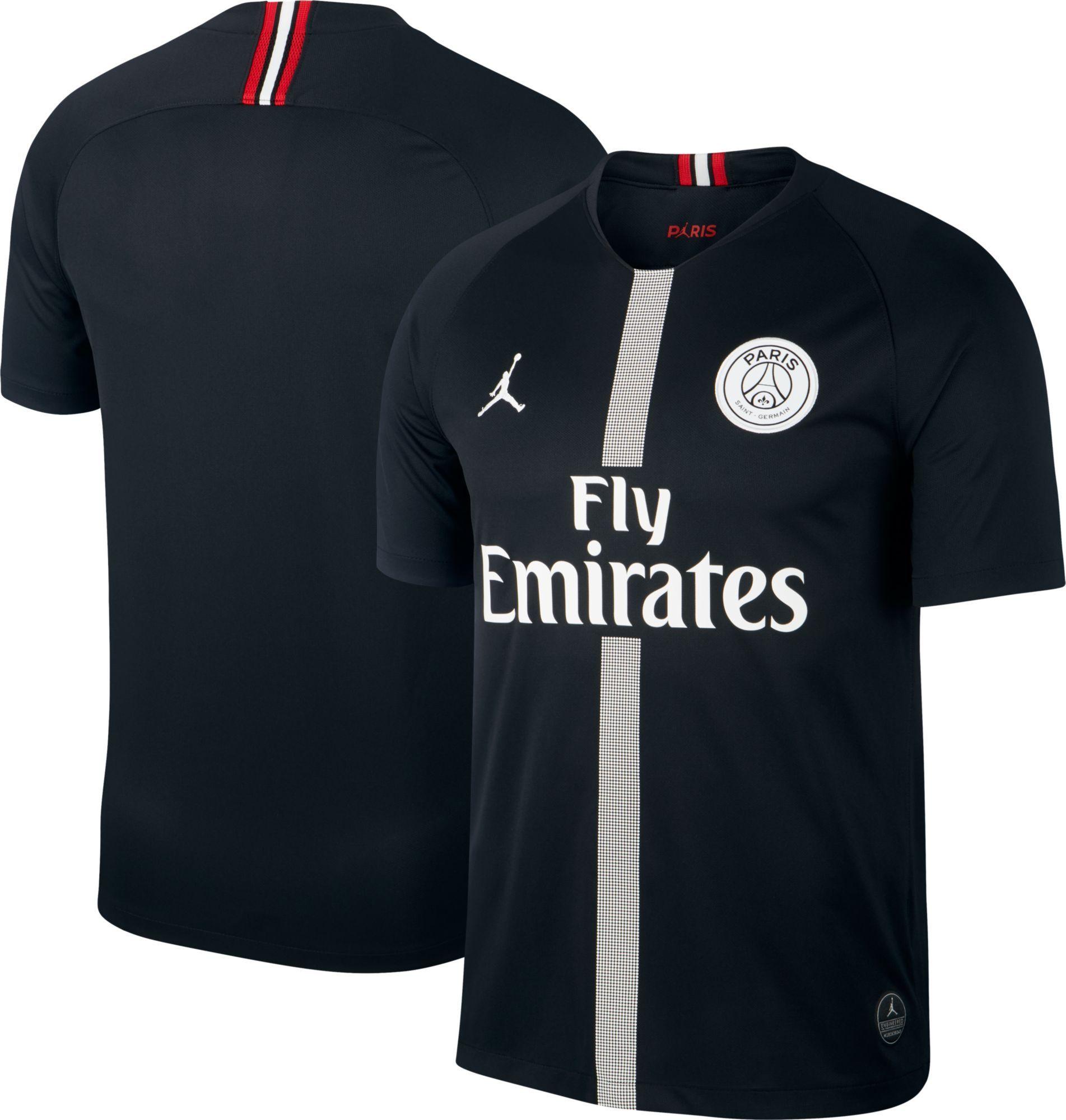 super popular aef5e 55c6f Jordan Men's Paris Saint-Germain 18/19 Breathe Stadium Black ...