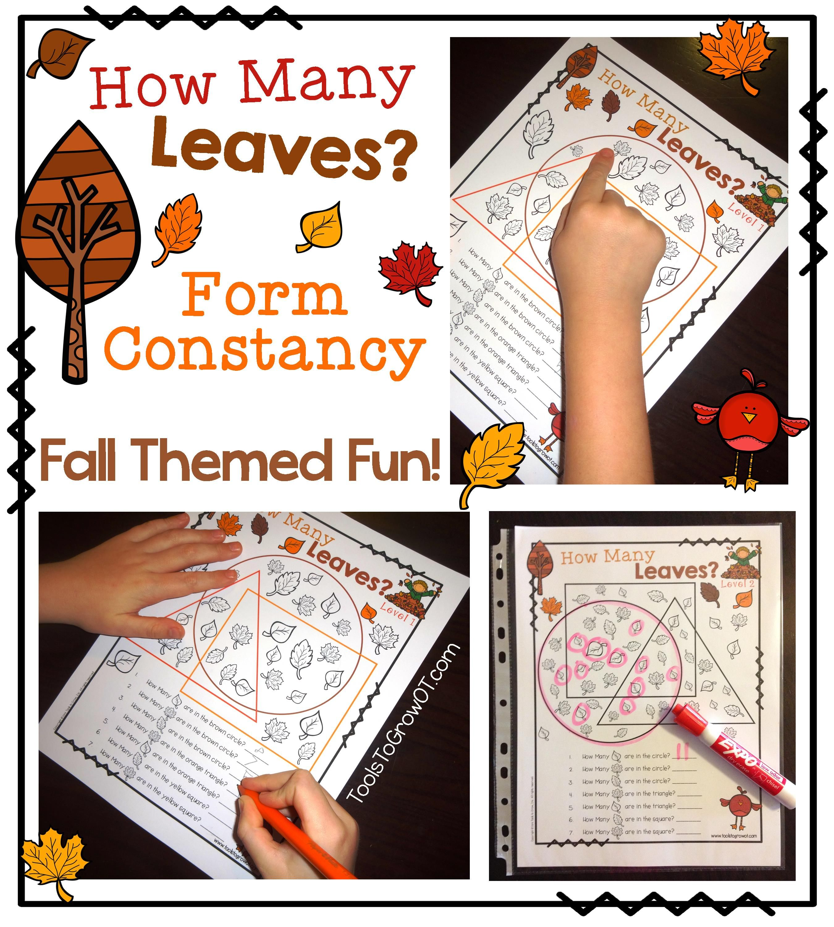 Form Constancy Fall Themed Fun There Are Lots Of Various