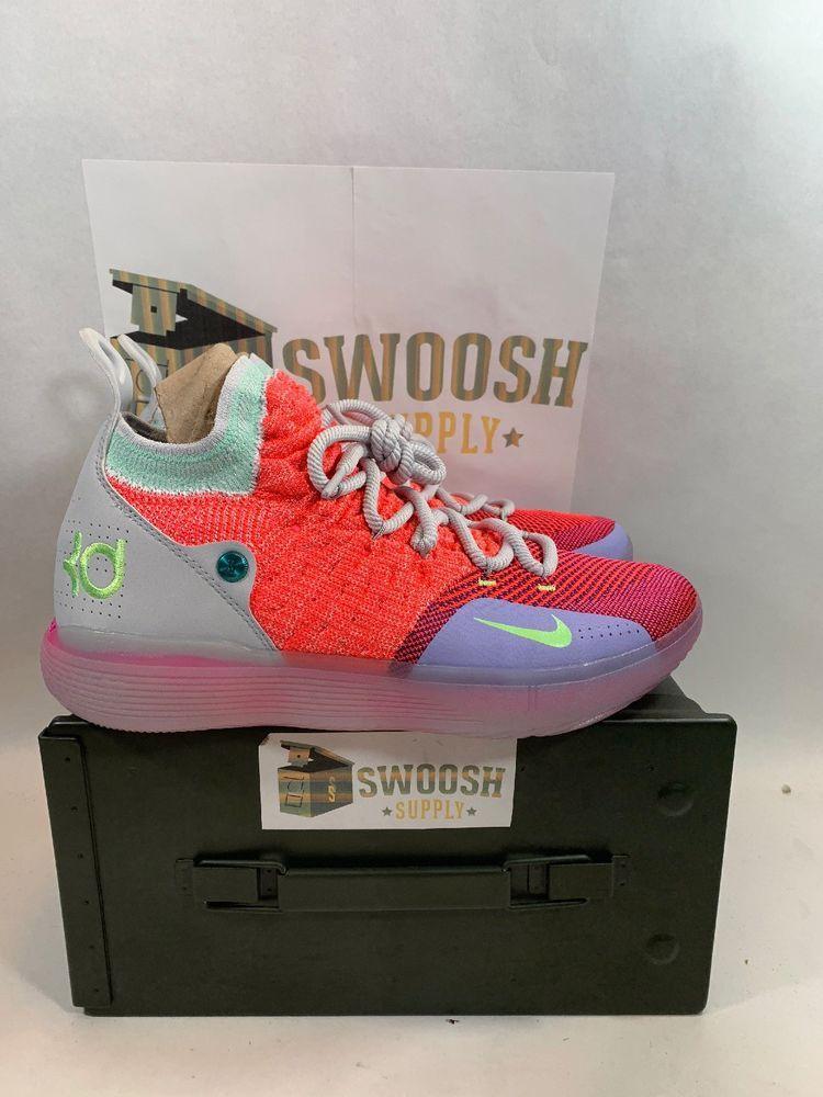new product 3f3af 0067c New Nike Zoom KD 11 XI EYBL Peach Jam Hot Punch Lime Blast AO2604-600 Size  9.5 Nike BasketballShoes