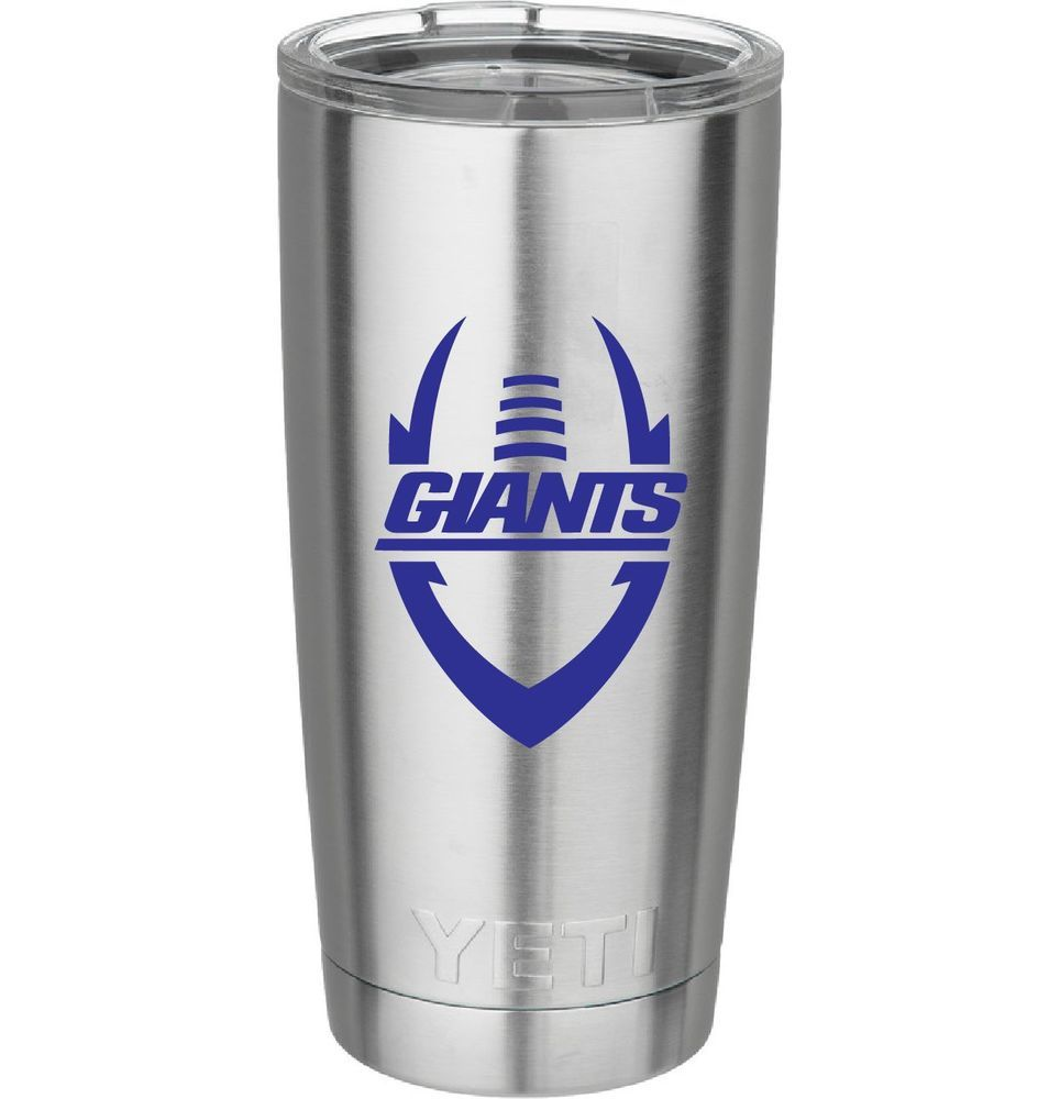 New York Giants Football Decal For Yeti Tumbler Rambler Beer Mug Window Football Decal Giants Football New York Giants Football