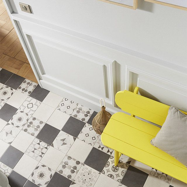 Carrelage sol et mur blanc 20 x 20 m cementine castorama salle de bain pinterest - Castorama salle de bain carrelage ...