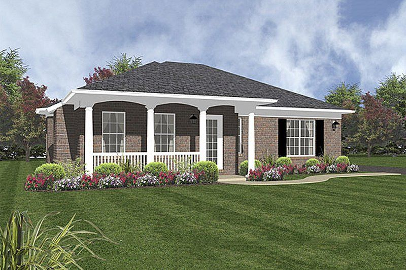 Colonial Style House Plan 2 Beds 2 Baths 1094 Sq Ft Plan 14 243 Colonial House Plans Southern House Plans Traditional House Plans