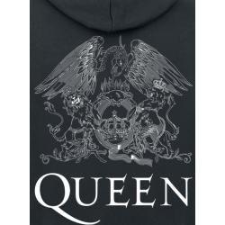 Photo of Queen Crest Vintage Herren-Kapuzenjacke – schwarz – Offizielles Merchandise