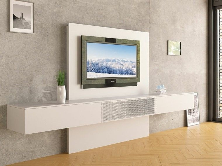 Resultado de imagen de mueble pared tv tv Pinterest Pared tv y Tv - muebles de pared