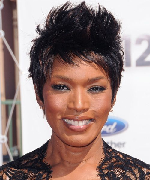 Angela Bassett Bassett Knows Acting And She Is An Expert At Digging De Short Hair Styles Short Hair Styles African American African American Women Hairstyles