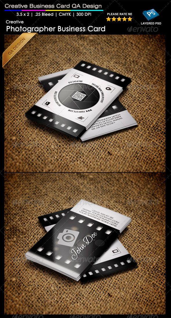Creative Photographer Business Card QA Design | Pinterest ...