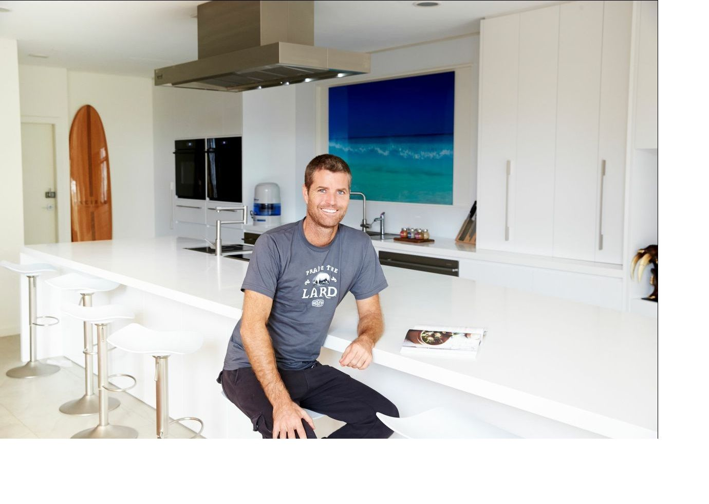 Pete Evans new Kitchen bench top with Corian. | MKR Celebrity Chef ...