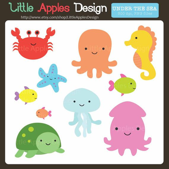 Under The Sea Clipart Under The Sea Clip By Littleapplesdesign 4 60 Clip Art Under The Sea Clipart Animal Clipart