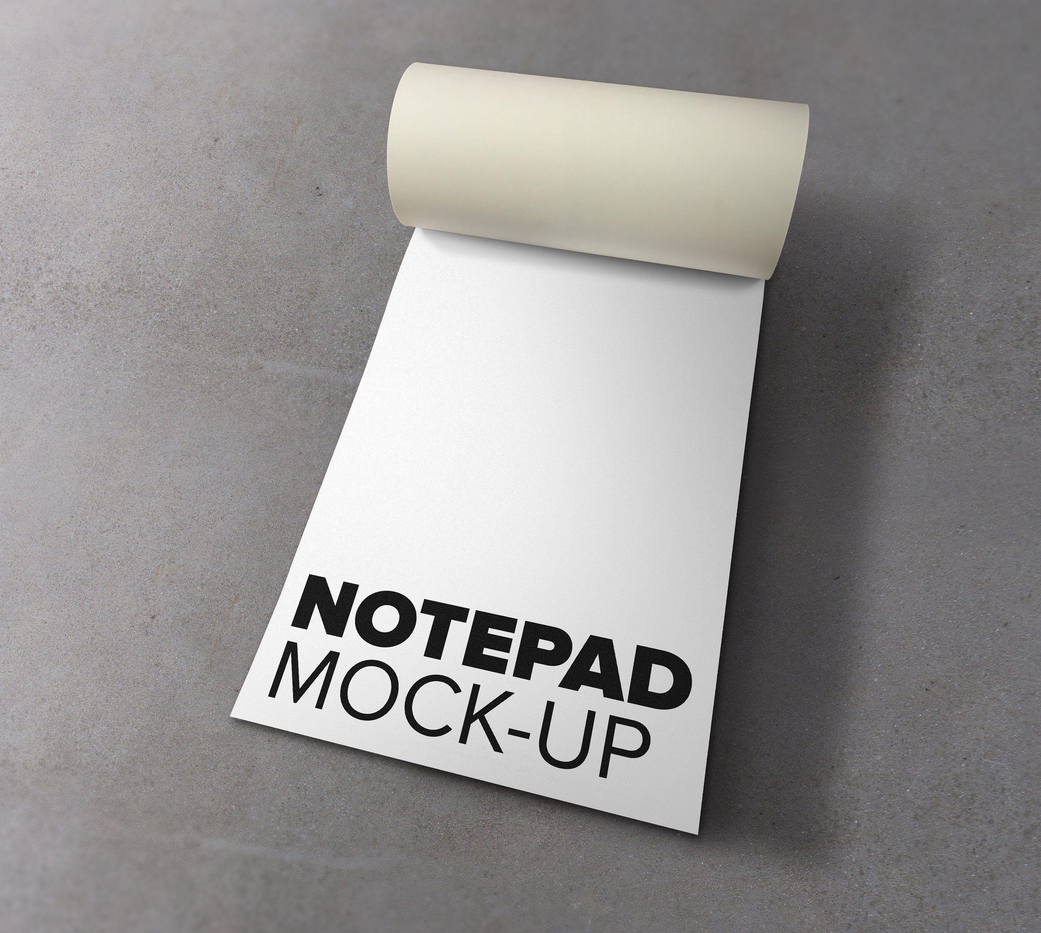 Download Notepad Mockup Mockup Free Psd Psd Template Free Note Pad