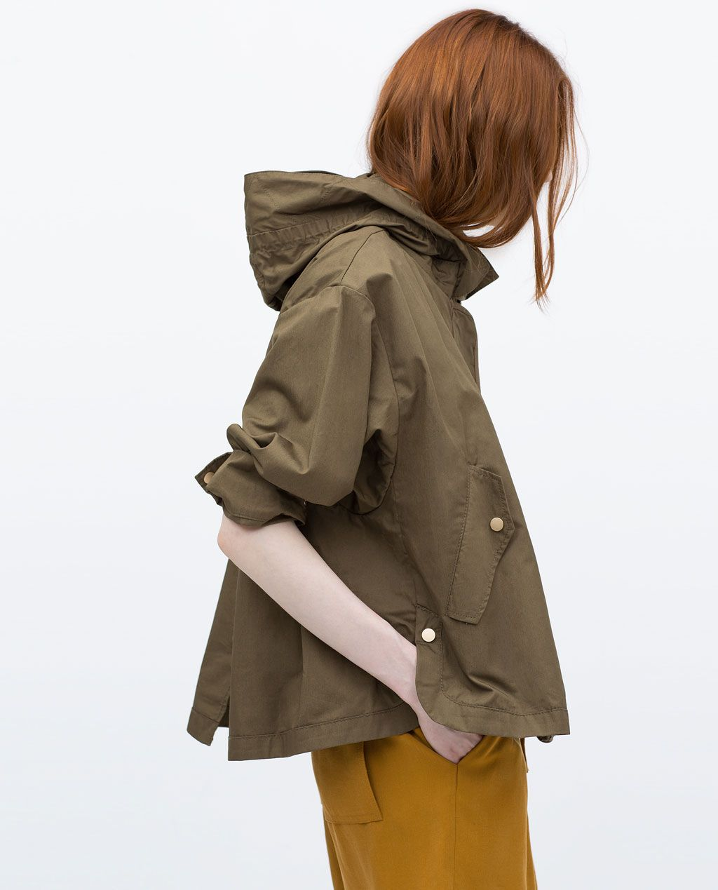 Blazers Zara España: SHORT PARKA WITH DETACHABLE LINING-Blazers-WOMAN-PROMOCIJA
