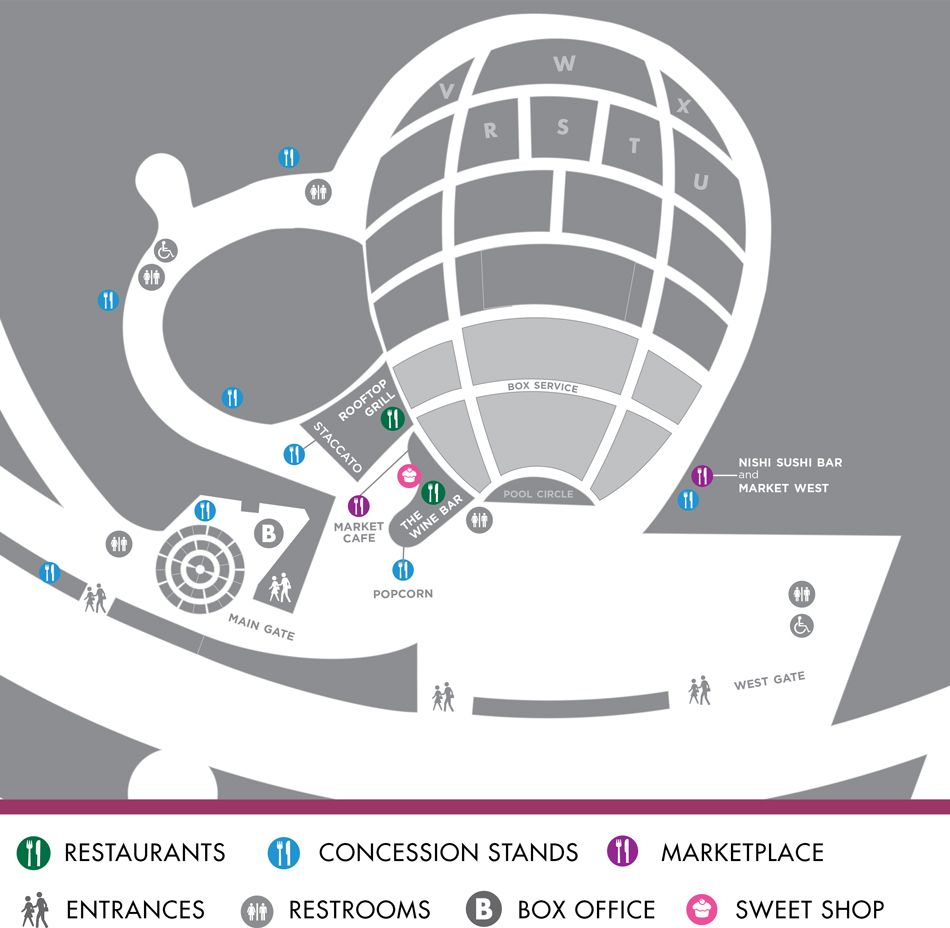 Restaurant Map Hollywood Bowl