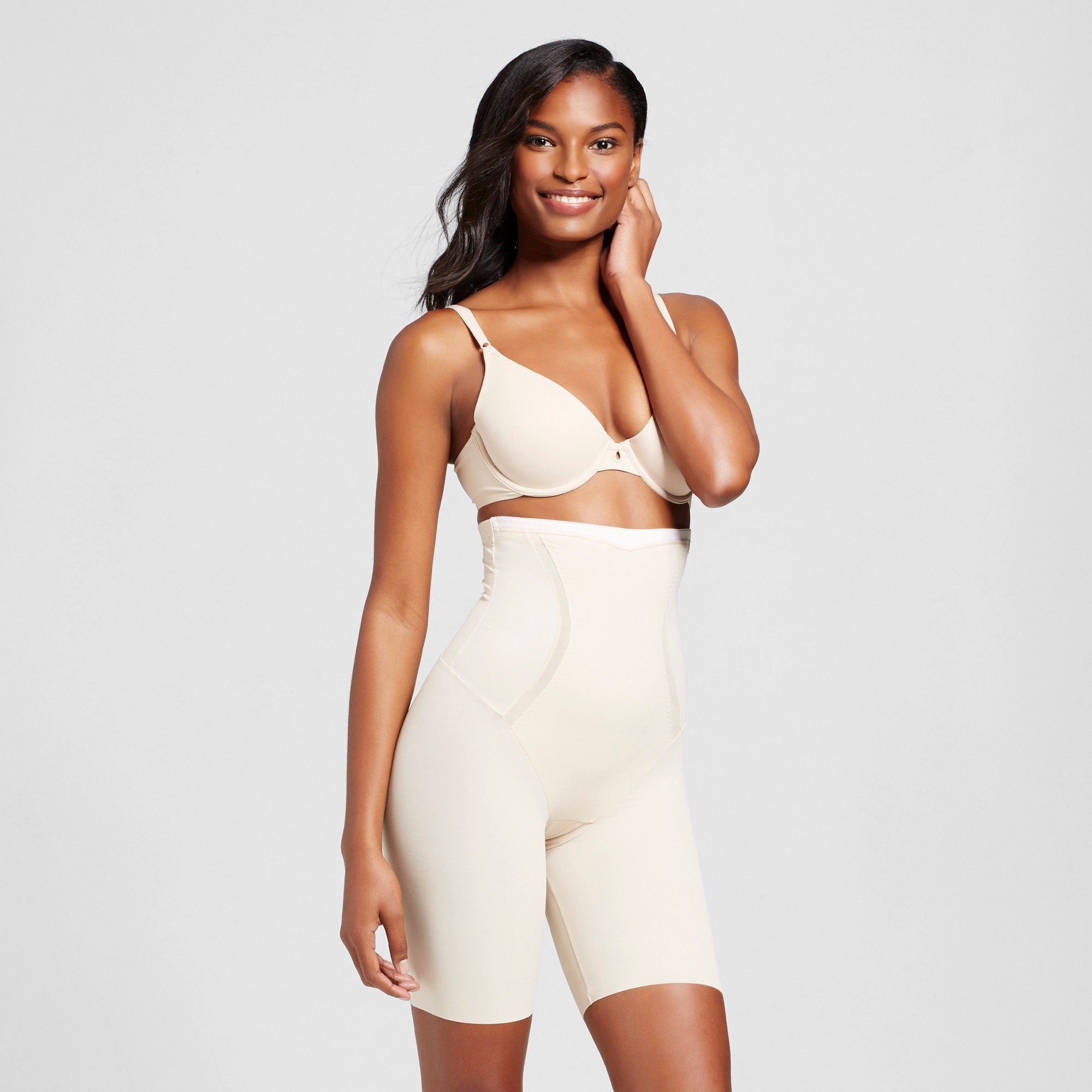 ff0ad15dfd Maidenform Self Expressions Women s Firm Foundations Thighslimmer SE5001 -  Latte S