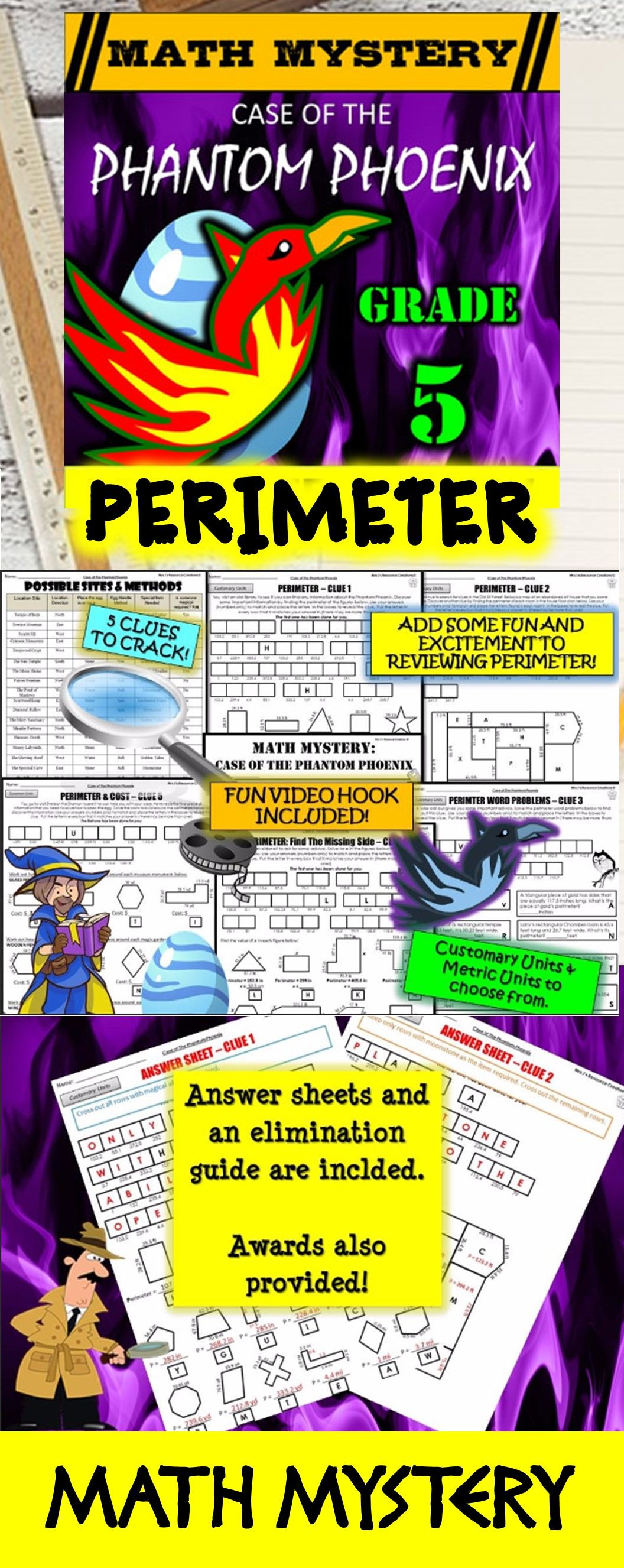 5th Grade Perimeter Worksheets Perimeter Missing Sides