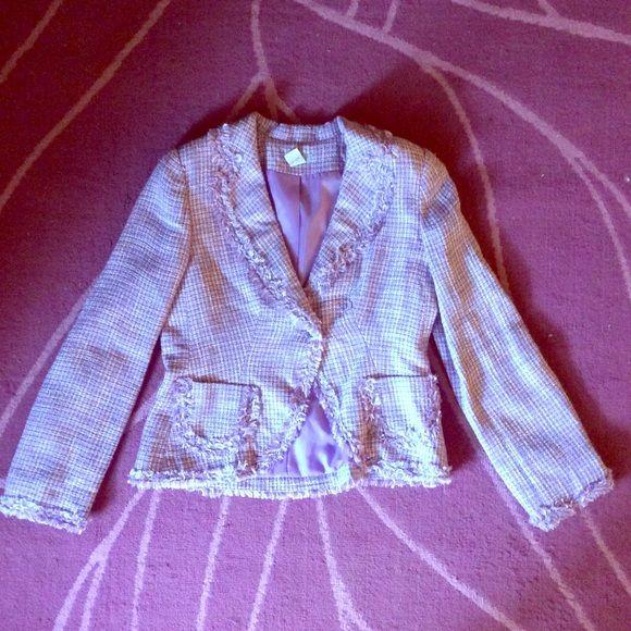 Purple Lined Tweed Blazer size Medium gNw purple tweed blazer. Fully lined. Size medium. No flaws. gNw Jackets & Coats Blazers
