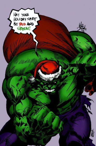 #Hulk #Fan #Art. (Christmas Hulk) By: Colorcomicsbadly. (THE * 5 * STÅR * ÅWARD * OF: * AW YEAH, IT'S MAJOR ÅWESOMENESS!!!™)[THANK U 4 PINNING!!!<·><]<©>ÅÅÅ+(OB4E)