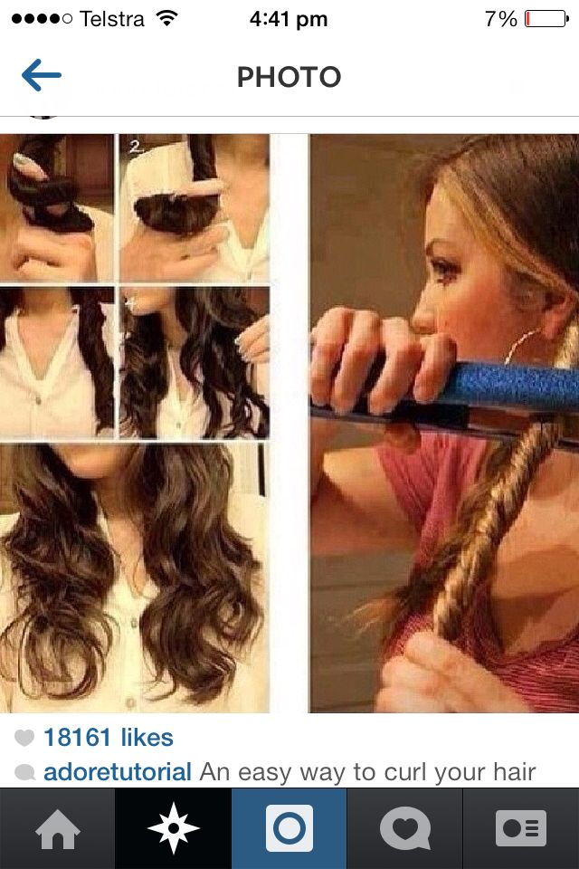 Pin By Allie Seaborne On Hair And Makeup Ideas Curl Hair With Straightener Hair Styles How To Curl Your Hair
