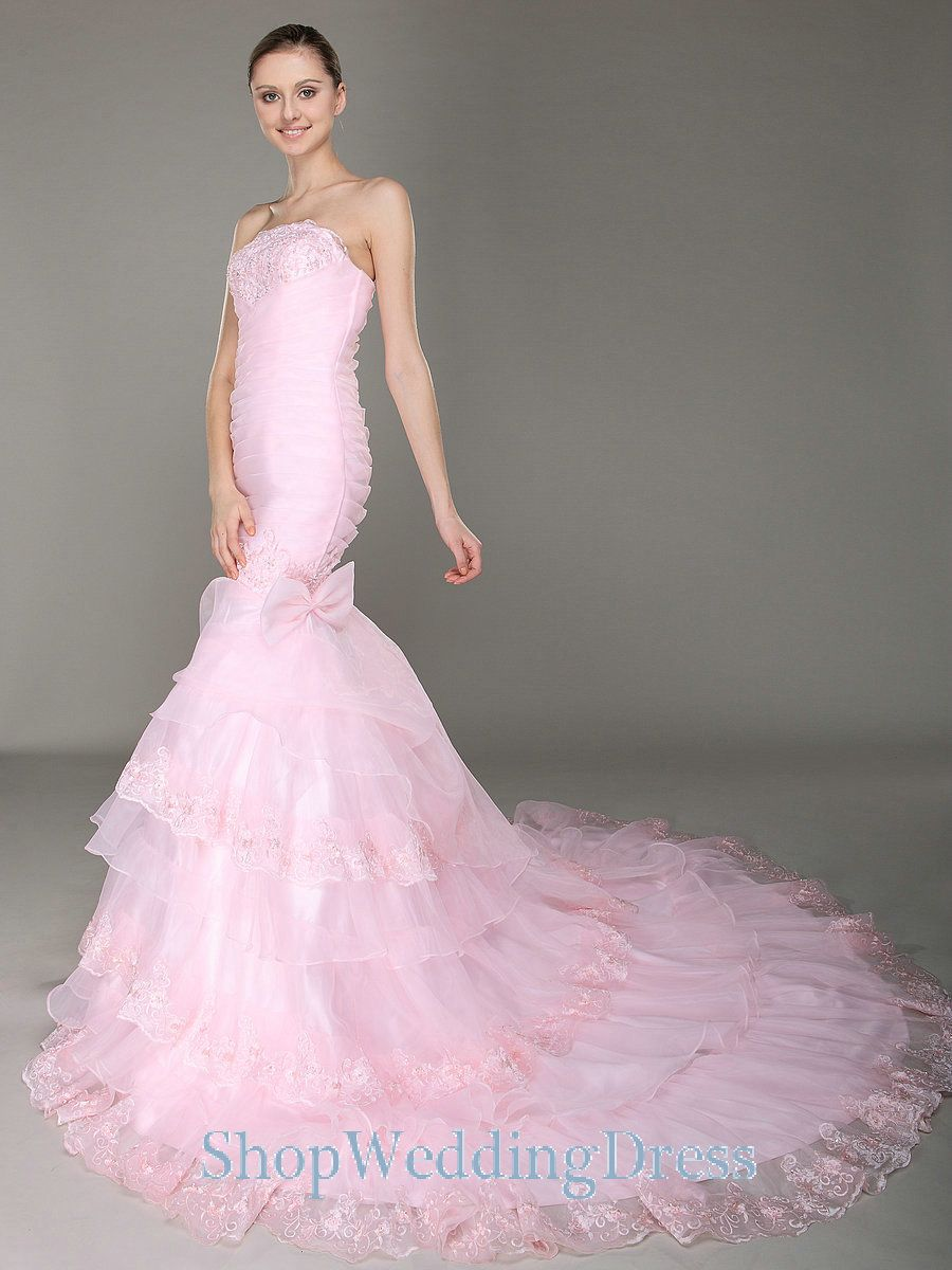 Pink Wedding Gowns Pertaining To Pink Casual Wedding Dress Images ...