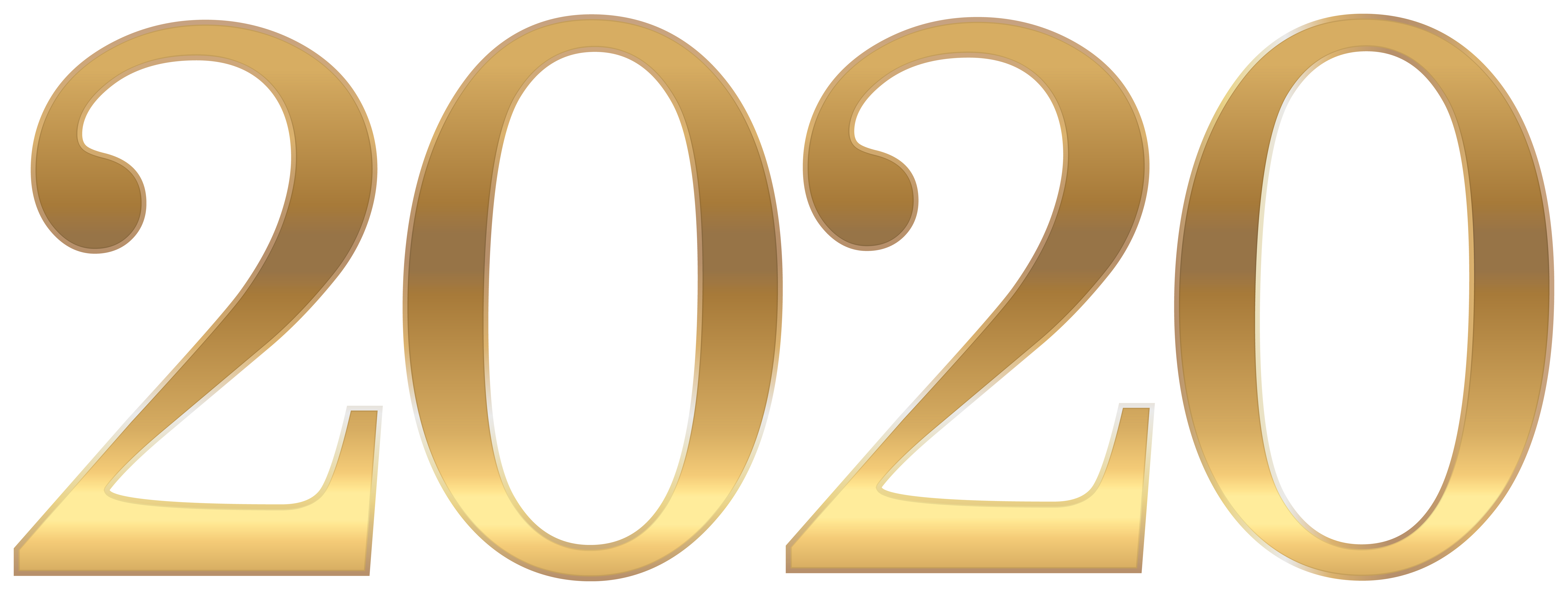 Gold 2020 PNG Clipart Gallery Yopriceville High