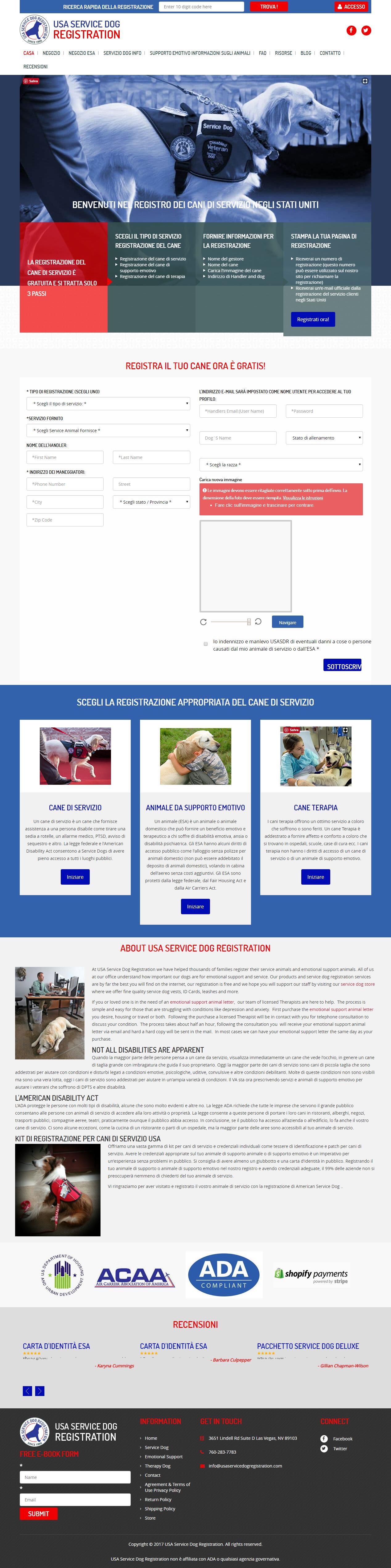 Certificazione ESA animali da supporto emozionale