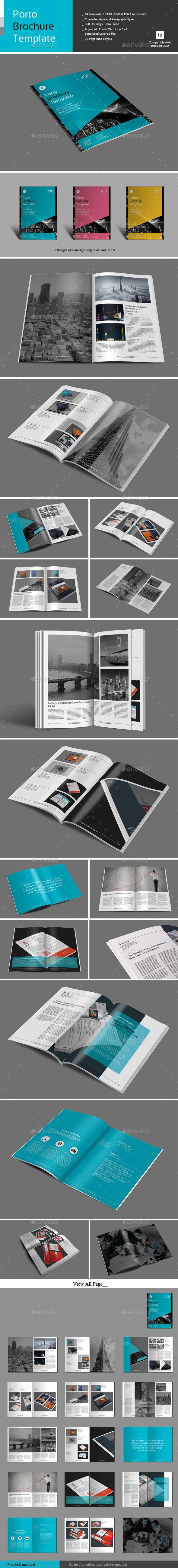 Porto Brochure Template Pinterest Brochure Template Brochures
