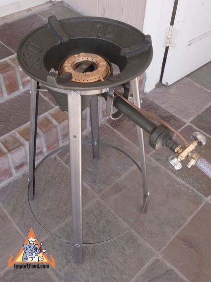 Thai Gas Burner With Stand High Btu Available At Importfood Com Gas Burners Outdoor Kitchen Design Home Bar Designs
