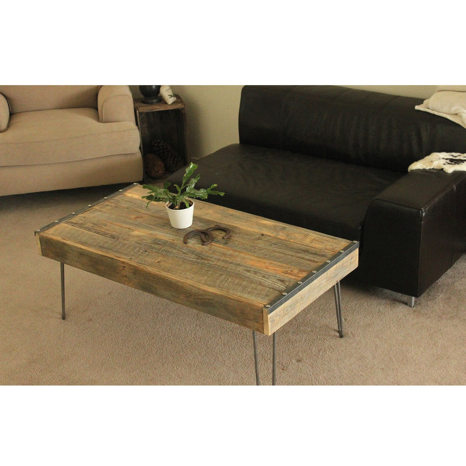 Reclaimed Wood Industrial Coffee Table