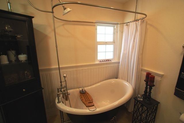 Free standing circular rod for shower curtain | Shower Curtains ...