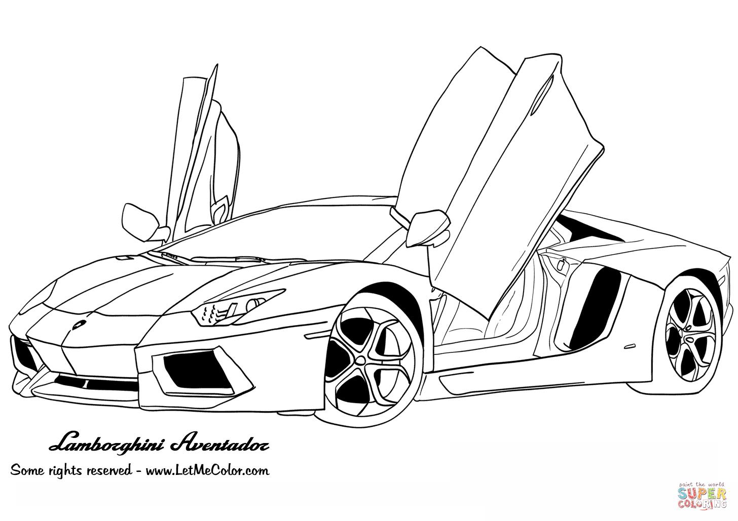 Ausmalbilder Lamborghini Gallardo