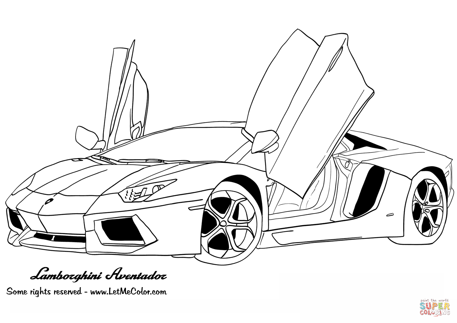Ausmalbilder lamborghini gallardo Malvorlage auto Cars