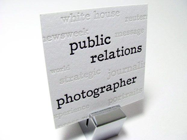 Letterpress Business Card Ralph Alswang Spark Letterpress Www