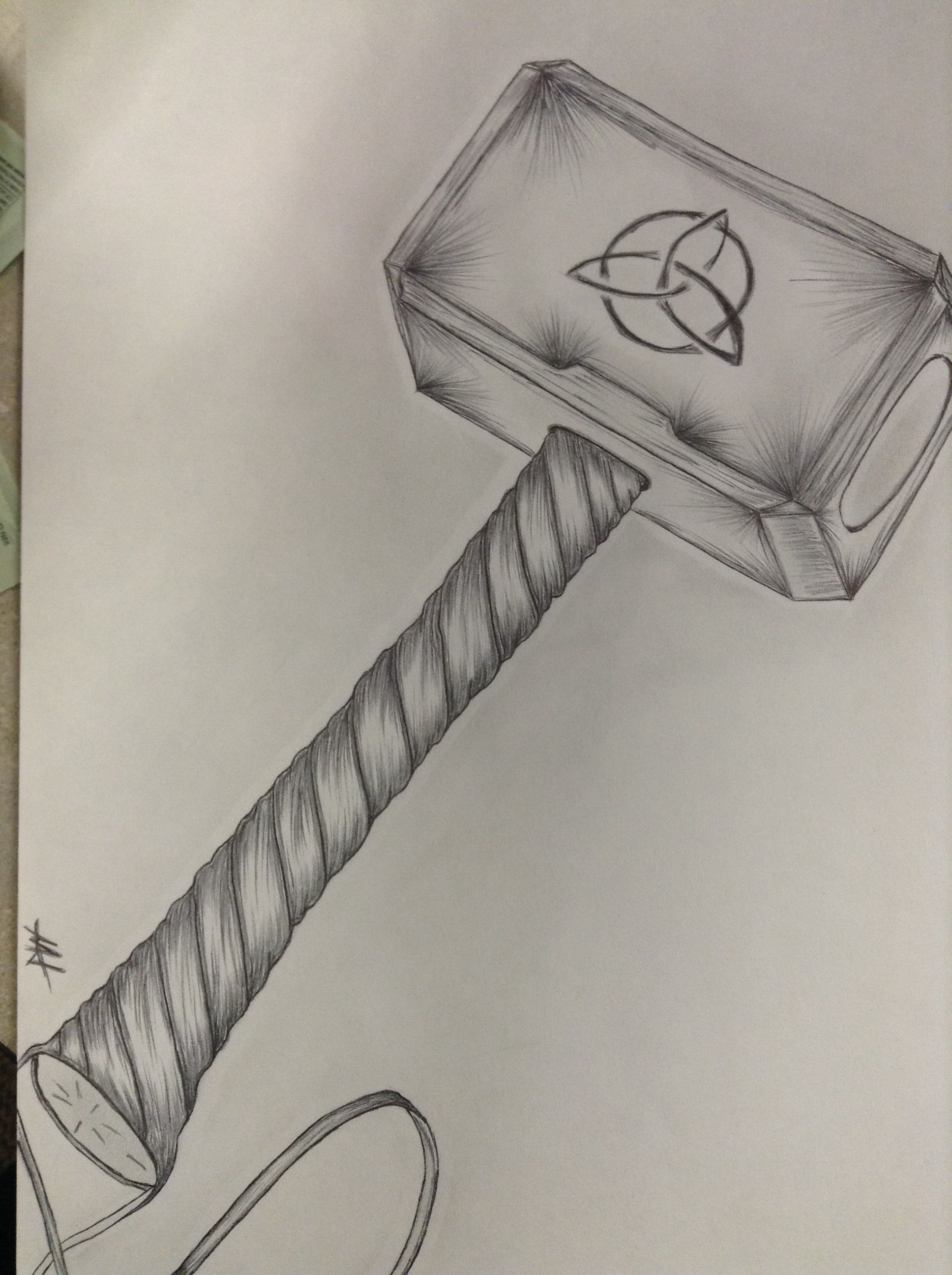This is a photo of Légend Thor Hammer Drawing