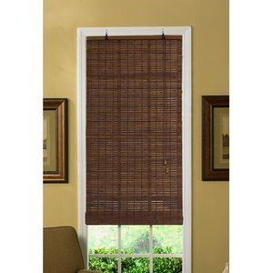 Radiance Venezia Flatstick Bamboo Roll Up Blind In Cocoa Blinds
