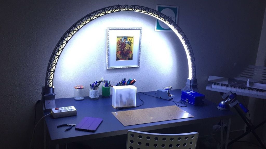Led Bridge Lamp Universal Segment By Opossums Thingiverse Led Lamp 3d Printing Projects