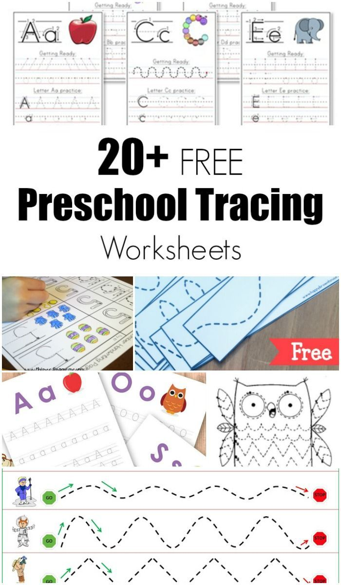 20+ Free Preschool Tracing Worksheets | Kinder lernen, Feinmotorik ...