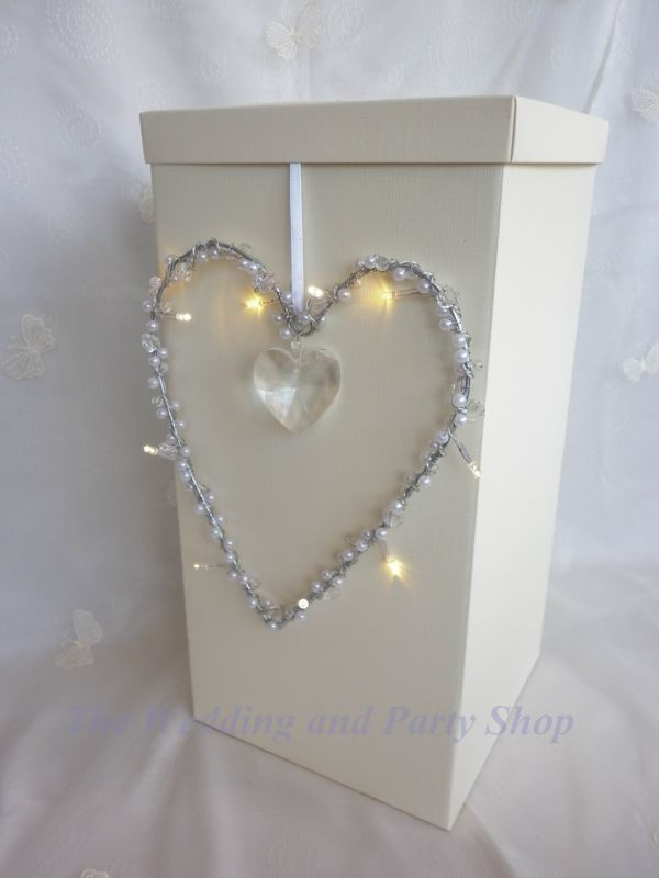 Lighted Heart Wedding Card Post Box Wishing Well Reception Decoration Favours