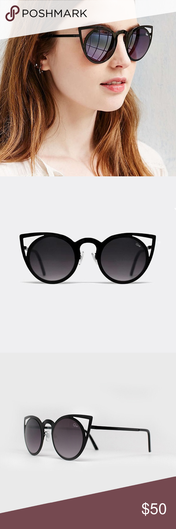 c2e94439168 Quay Invader Cat Eye Sunglasses Quay Invader sunglasses in black. AUTHENTIC QUAY  SUNGLASSES. Price