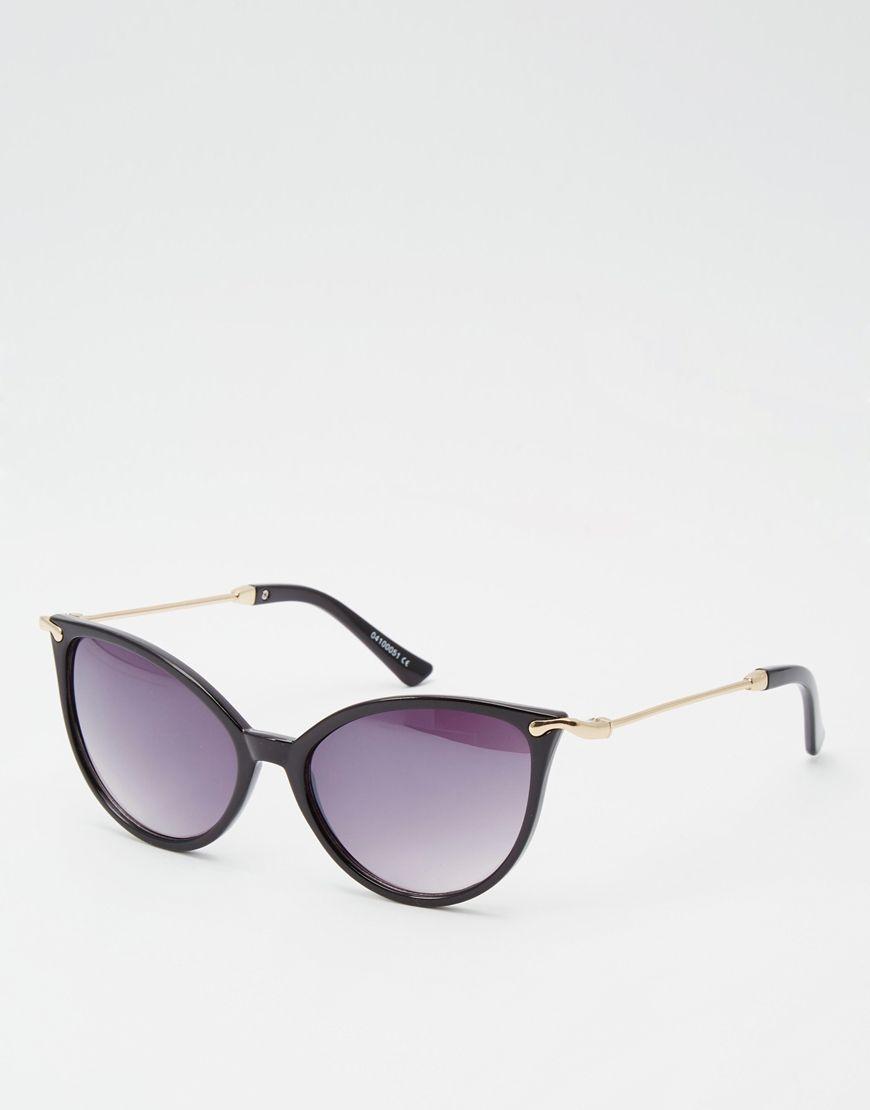 Imagen 1 de Gafas de sol estilo ojos de gato con montura fina y patillas de