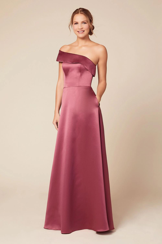 Mia In 2020 Satin Bridesmaid Dresses Bridesmaid Dresses Strapless Bridesmaid Dresses