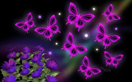 Pink Butterflies - Desktop Nexus Wallpapers