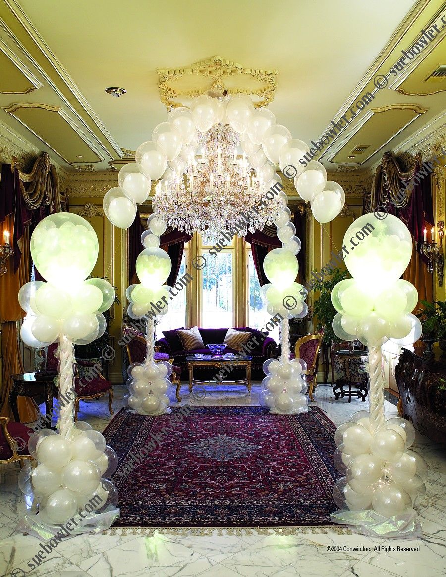 Wedding decor sue bowler balloon decor courses wedding for Balloon decoration course